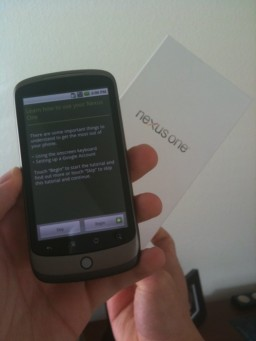 Unboxing do Nexus One (aka Google Phone)