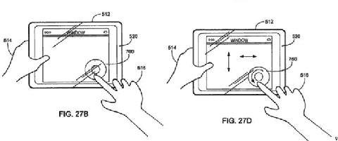 Imagem de patente de tablet da Apple