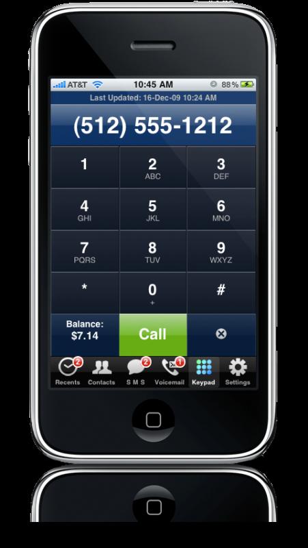 Riverturn VoiceCentral Black Swan no iPhone (Google Voice)
