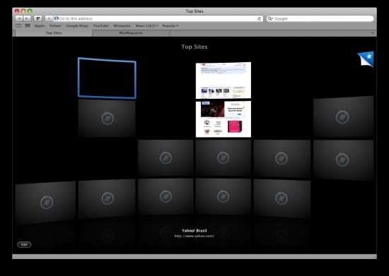 Mac FAIL Top Sites miniaturas Safari