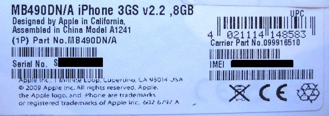 iPhone 3GS de 8GB?