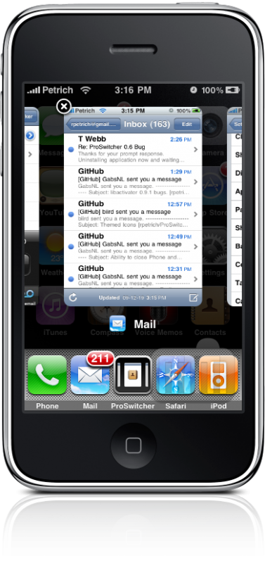 ProSwitcher no iPhone