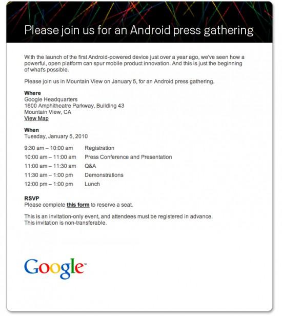 Convite evento Android - 5/1