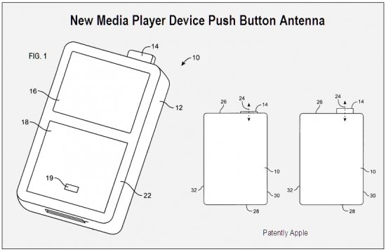 Patente da Apple de antena com botão retrátil