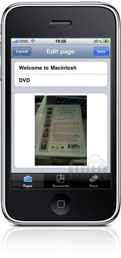 DocumentScanner no iPhone