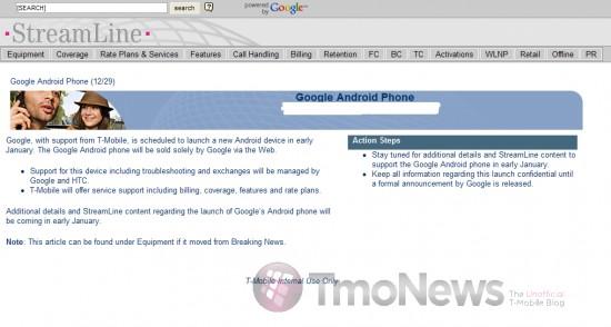 T-Mobile confirma Google Phone