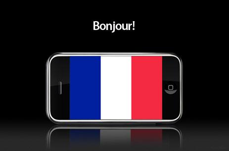 iPhone na França - Bonjour!