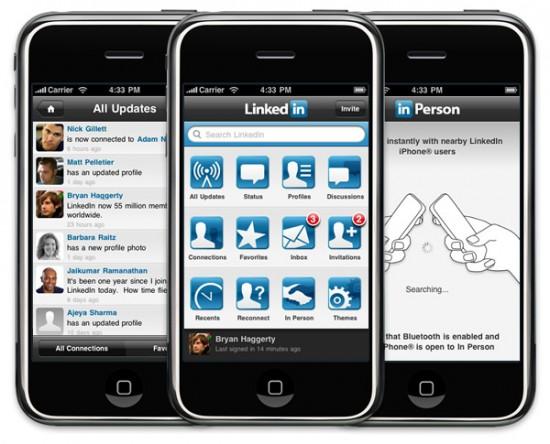 LinkedIn 3.0 no iPhone