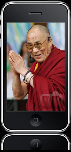 Dalai Lama no iPhone