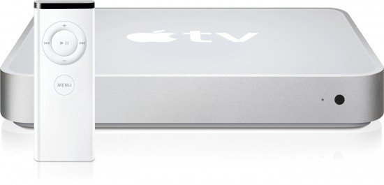 Apple TV de frente com Remote