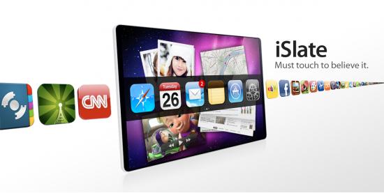 Mockup (conceito) da iSlate/Apple tablet