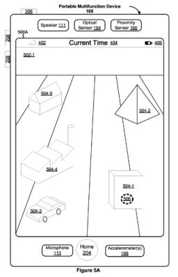 Patente de interface 3D para touchscreens