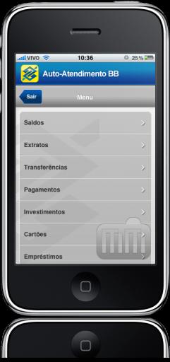 Banco do Brasil no iPhone