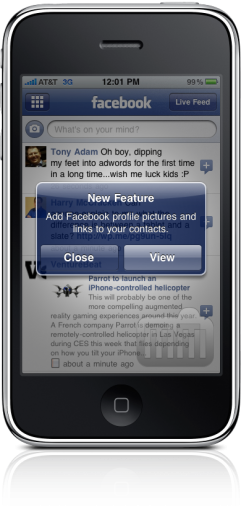 Facebook 3.1 no iPhone