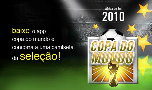Promoção App Copa do Mundo para iPhone