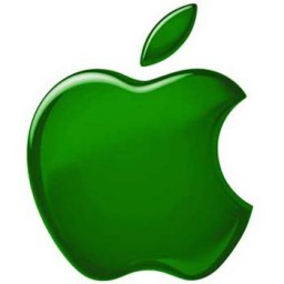 Logo da Apple verde (Greenpeace)