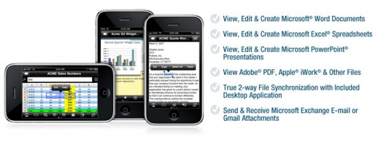 Documents To Go Premium para iPhone
