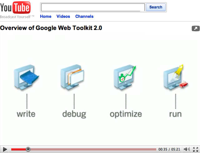 YouTube com player HTML 5