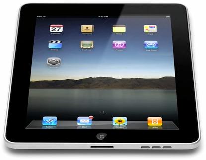 iPad visto de frente e de baixo