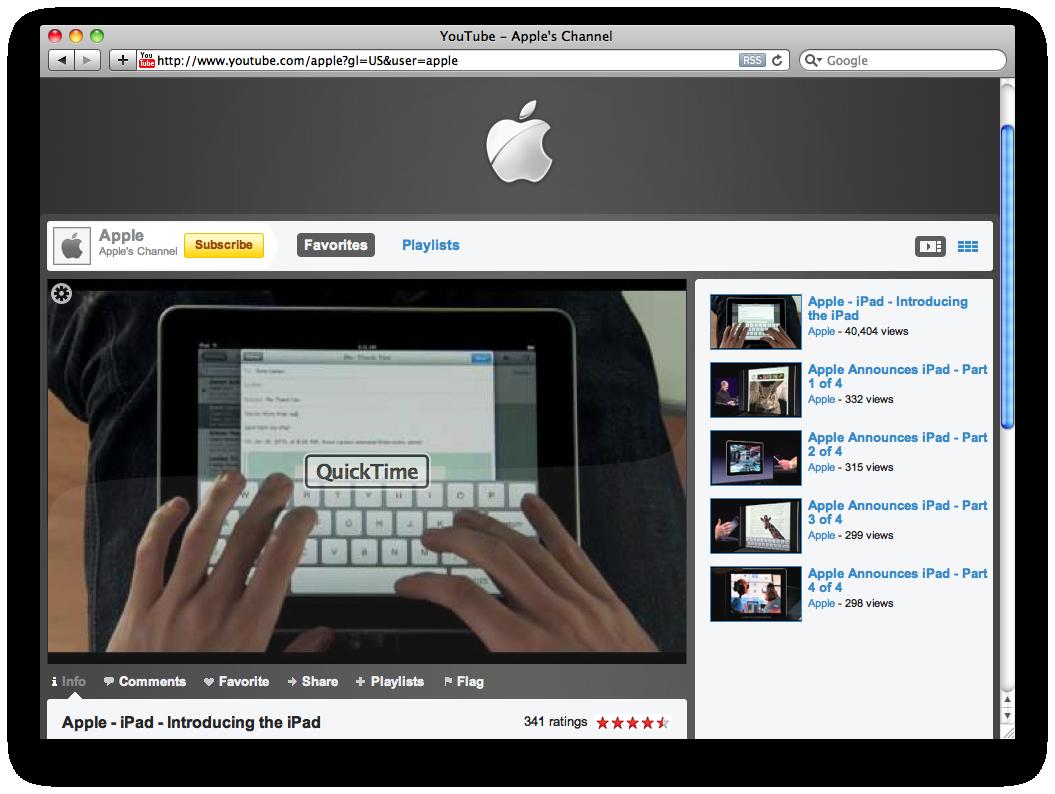 Canal da Apple no YouTube?