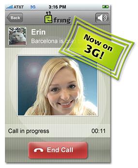Fring para iPhone, agora com 3G
