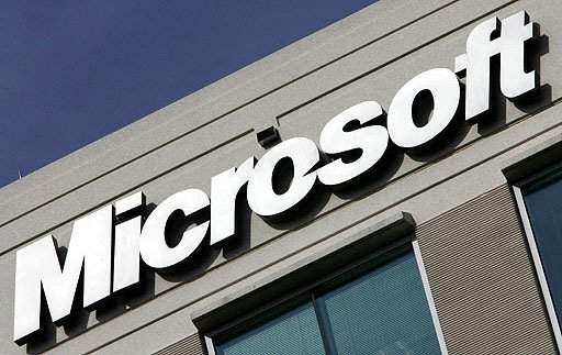 Logo em escritório da Microsoft