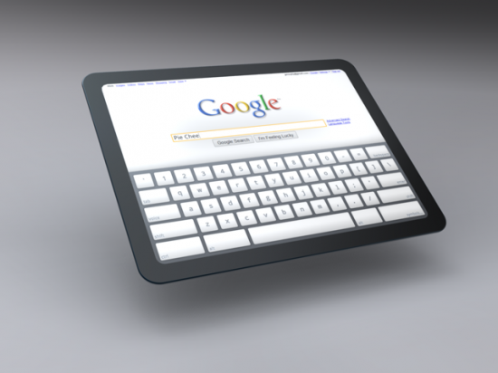 Tablet do Google rodando Chrome OS