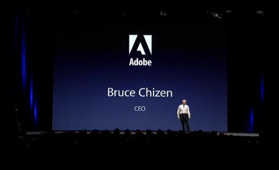 Bruce Chizen, no palco da WWDC 2005