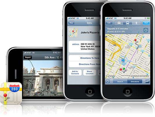 iPhone e Google Maps