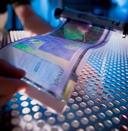 Papel digital colorido flexível (epaper)