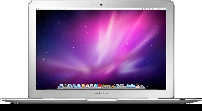 MacBook Air visto de frente