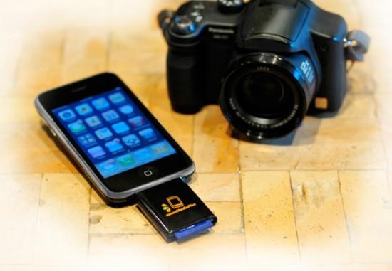 Adaptador SD da zoomIt para iPhone