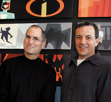 Steve Jobs (Apple) e Bob Iger (Disney)