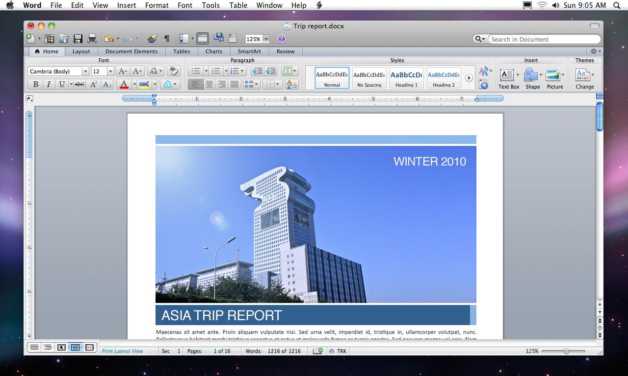 """Interface """"Ribbon"""" no Microsoft Office 2011 para Mac"""