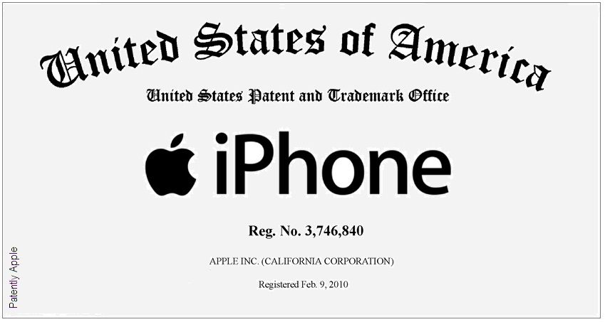 Registro do nome iPhone pela Apple