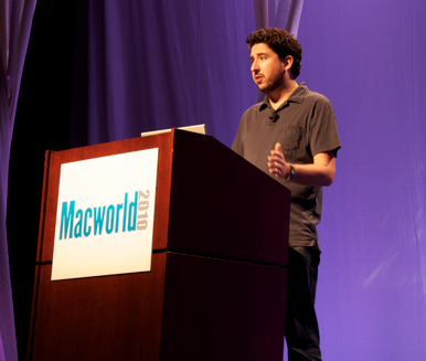 John Gruber, do Daring Fireball, em keynote na Macworld 2010
