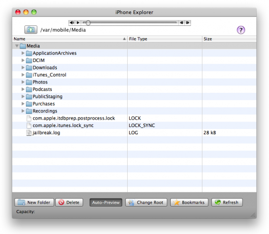 iPhone Explorer no Mac OS X