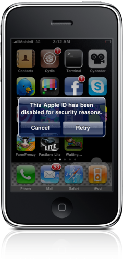 ID banido da iPhone App Store