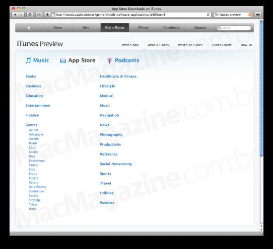 iTunes Preview - navegando pelo browser