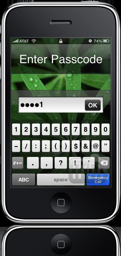 Senha alfanumérica no iPhone