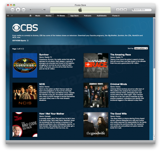 CBS na iTunes Store