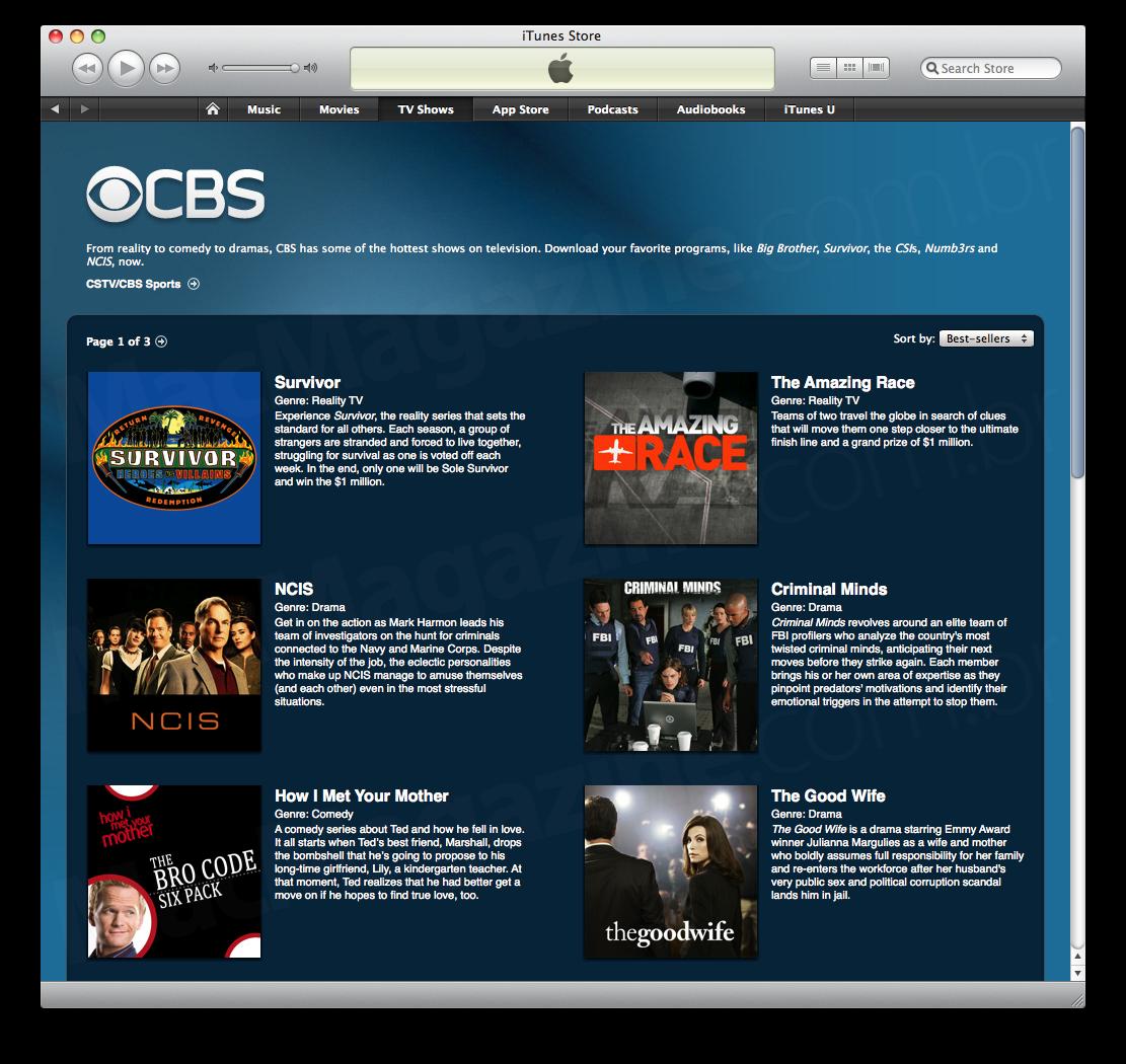 CBS na iTunes Store