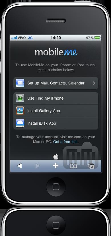 Me.com no iPhone