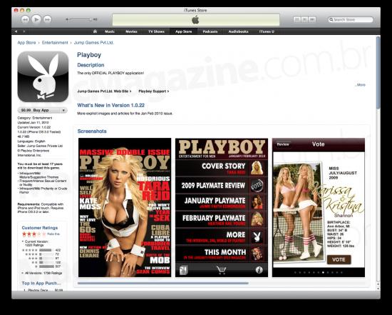 App da Playboy na App Store