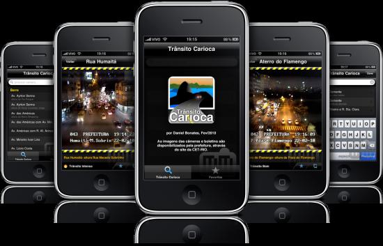 Trânsito Carioca em iPhones