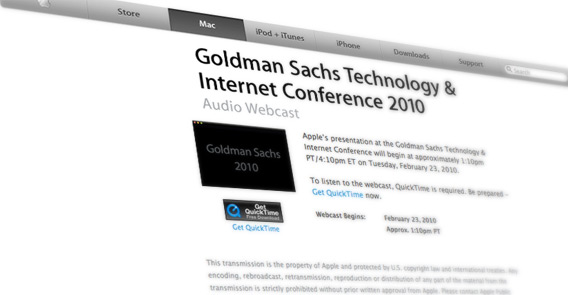 Apple na Goldman Sachs Technology & Internet Conference