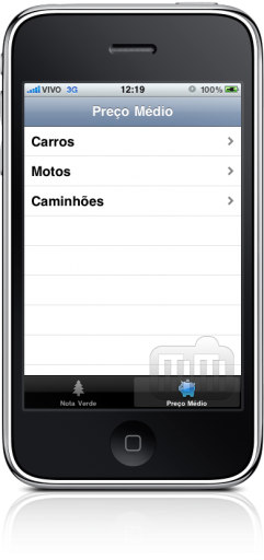 Carros no iPhone