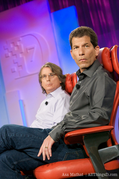 Roger McNamee e Jon Rubinstein, CEO da Palm