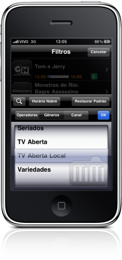 TV Magazine 1.1 no iPhone