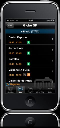 TV Magazine 1.1 no iPhone